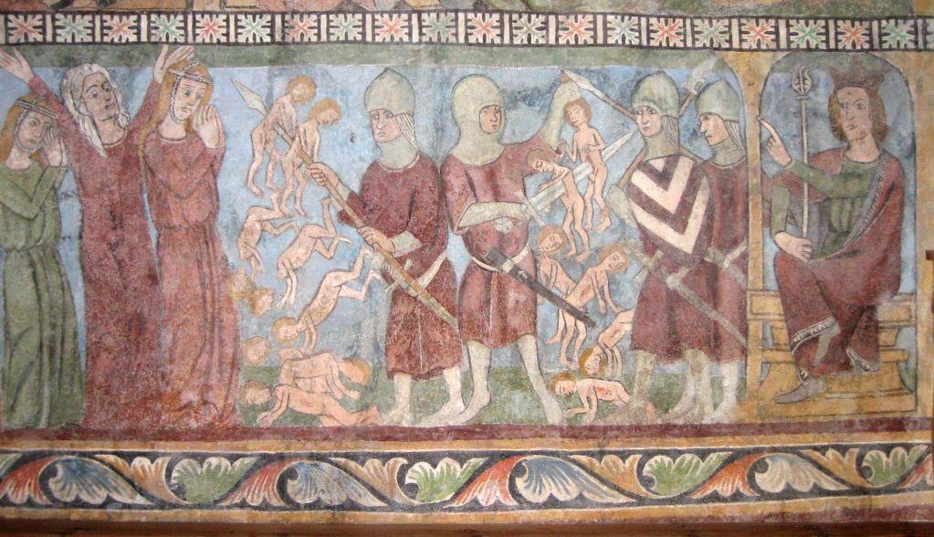 Немецкая фреска, 13 век.