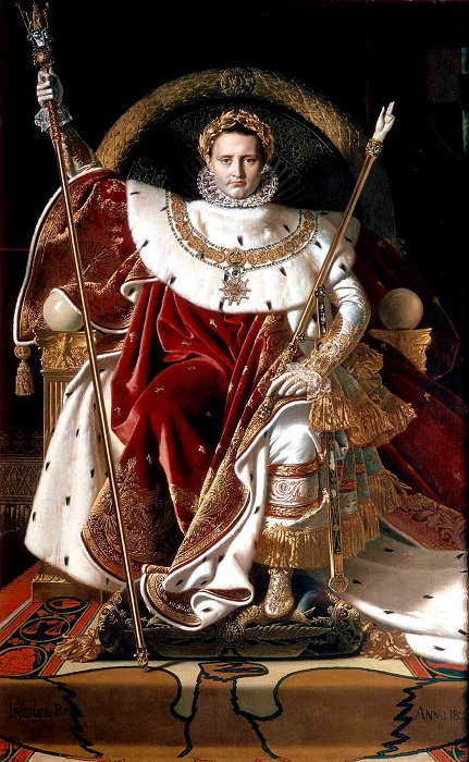 Картина Энгра «Наполеон на императорском троне»